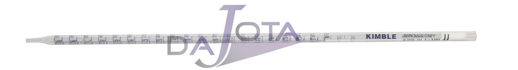 pipeta graduada em vidro de 2 ml com div 1/100 pacote com 10 unidades marca KIMBLE - USA