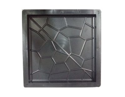 Forma Plástica Quadrada Piso Ladrilho 20x20cm Caquinho FP065