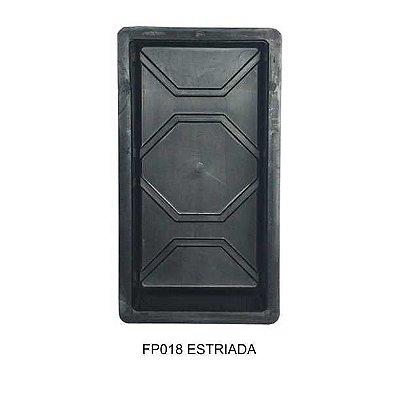 Kit Forma Plástica Retangular Estriada 30x15cm Bloquete FP018 - 10 Unidades