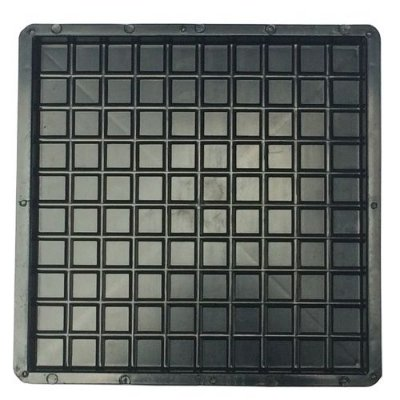Kit Forma Plástica Quadrada Xadrez 100 Quadros 49x49x3,5cm FP045 - 10 Unidades