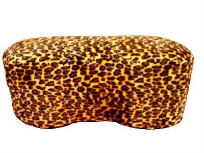 Puff Pufe Puf Duplo Feijão 92x43cm Courino Sala Quarto Animal Print Onça
