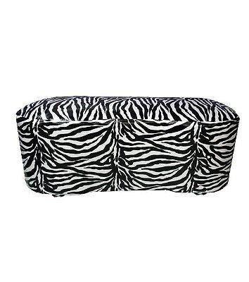 Puff Pufe Puf Duplo Feijão 92x43cm Sala Quarto Animal Print Zebra