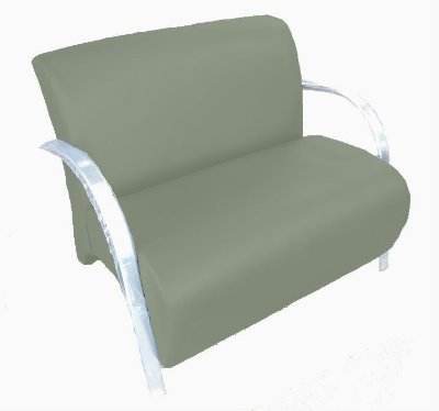 Poltrona Cadeira Decorativa Dois Lugares Suede Sala de Estar - Cinza