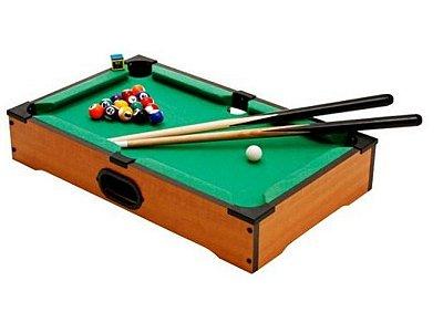 Mini Mesa de Bilhar Sinuca Snooker em Madeira