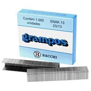 Grampos P/ Grampeador Bacchi Enak 13 (23/13) caixa c/ 1.000
