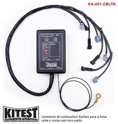Conversor Bi-Combustível Karflex Bico Palito Linha Celta Corsa KA-001 CELTA