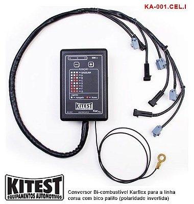 Conversor Bi-Combustível Karflex Bico Palito Polaridade Invertida Linha Celta Corsa KA-001 CEL.I