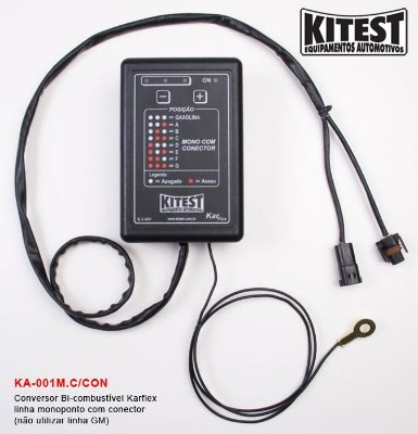 Conversor Bi-Combustível Karflex Mono C/ Conector KA-001.M.C/CON