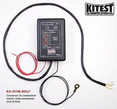 Conversor Bi-Combustível Karflex 5 Fios Linha Golf KA-001M.GOLF
