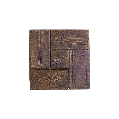 Formas Plástica Piso Ladrilho Quadrada Tijolinho Madeira 30x30x3cm - BS282