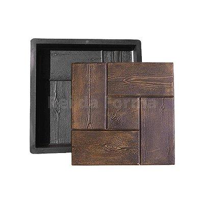 Forma Plástica Piso Ladrilho Quadrada Tijolinho Madeira 30x30x3cm - BS282