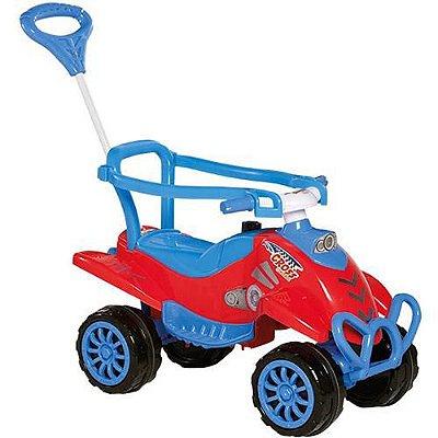 Carrinho de Passeio Infantil Vermelho 2 em 1 com Pedal Brinquedo - Calesita