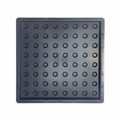 Kit Forma Piso Tátil Alerta Bola 40x40cm Deficiente Visual FP091 - 10 Unidades