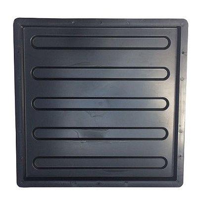 Kit Forma Piso 40x40cm Deficiente Visual Estriada Reta FP092 - 10 Unidades