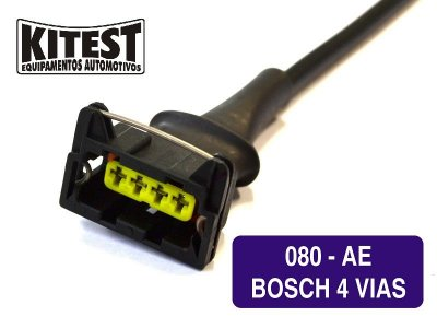 Cabo Utilizado Testar Atuadores Marcha Lenta Bosch 4 vias CAB-080.AE