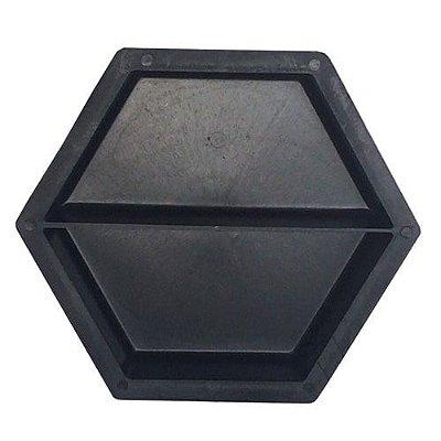 Forma Plástica Sextavada Lisa Meia 20x20x6cm - FP003