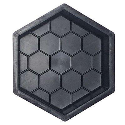 Forma Plástica Sextavada Estriada Bloquete 20x20x6cm - FP007