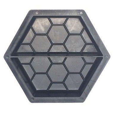 Forma Plástica Sextavada Estriada Meia 20x20x6cm - FP008