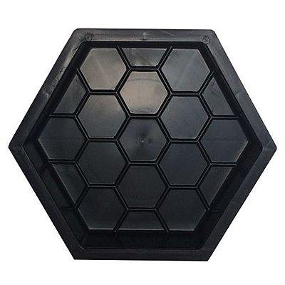 Forma Plástica Sextavada Estriada Bloquete 30x30x8cm - FP010