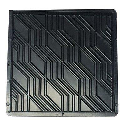 Forma Quadrada Estriada Calçada Cimento 32x32x2,5cm - FP022