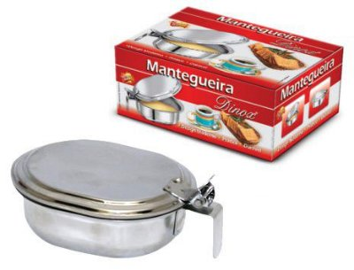 Mantegueira Porta Manteiga em Inox