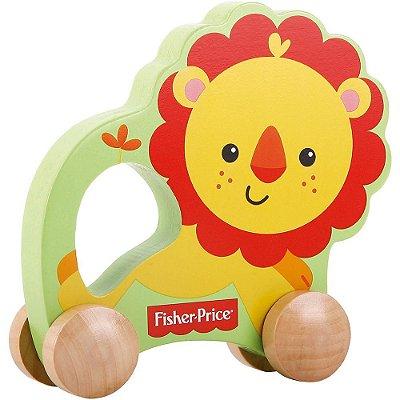 Brinquedo Bebê Meu Primeiro Leão Sobre Rodas Fisher Price