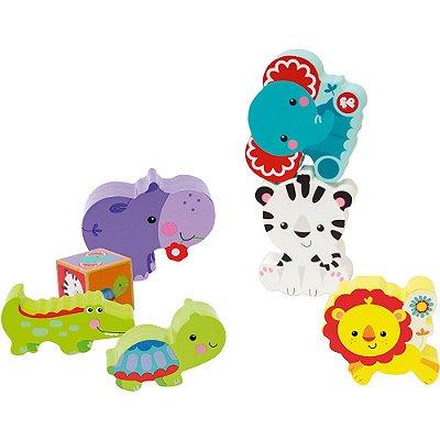 Brinquedo Bebê Minha Primeira Torre de Animais Fisher Price