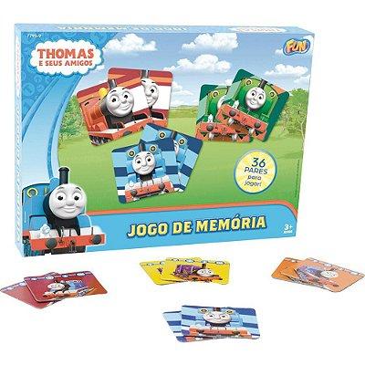 Jogo da Memória 72 Peças Thomas e Seus Amigos