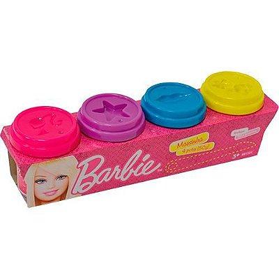 Kit Massinha Modelar Barbie Com Moldes 4 Potes Menina