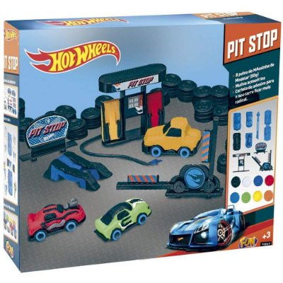 Massinha de Modelar Hot Wheels Pit Stop 7728-9