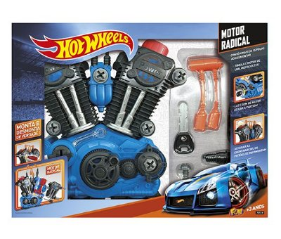 Motor Radical Hot Wheels Monte E Desmonte Seu Motor 7972-0