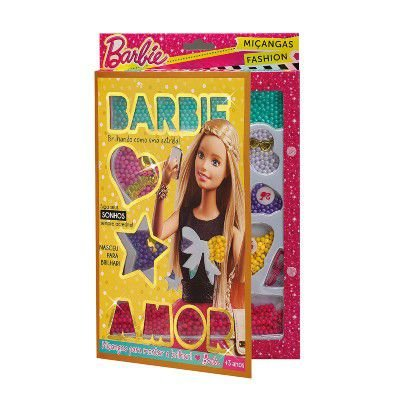 Conjunto de Miçangas Barbie Revista Dourada - Fun