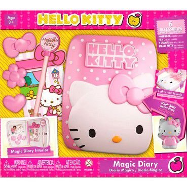Diário Mágico Infantil Hello Kitty com Luz e Som