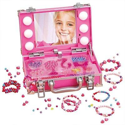 Maleta Camarim Porta Miçangas Barbie Com Luzes 7432-5