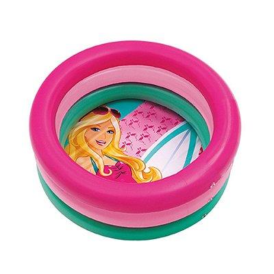 Piscina Inflável Barbie Little Fish Praia 68l 7670-5 Mattel