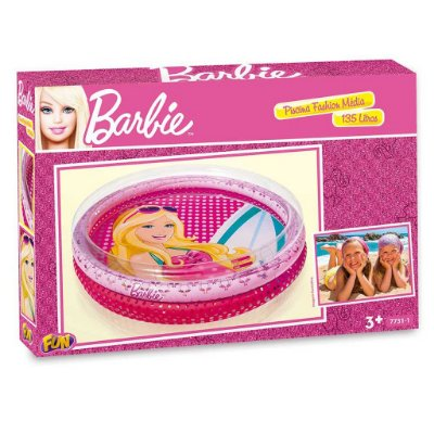 Piscina Inflável Barbie Fashion Praia 135l 7731-1 Fun