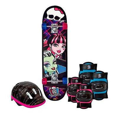 Skate Monster High Com Kit De Segurança 7621-5 - Fun
