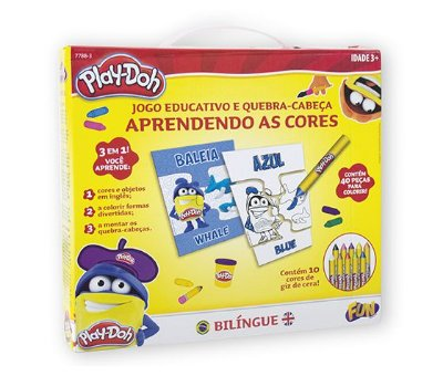 Play Doh Jogo Aprendendo As Cores Bilíngue - Fun 7788-3