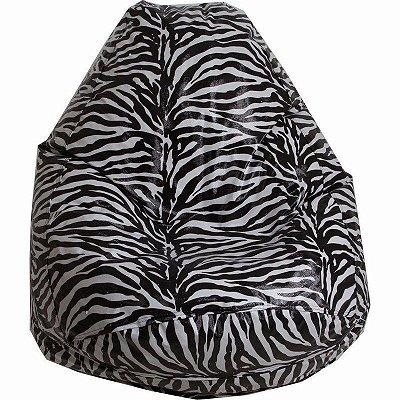 Puff Pufe Puf Pera 90cm Diâmetro Courino Quarto Sala Animal Print Zebra