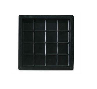 Kit com 10 unidades Forma Ladrilho Xadrez 16 Quadros 20 x 20 x 1,5 cm - FP043
