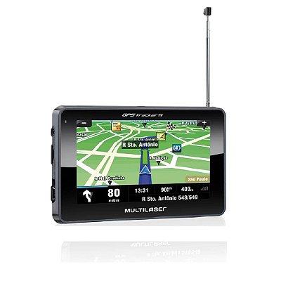 "Gps Automotivo Tracker 3 Tela 4,3"""" Tv Digital FM Gp034 - Multilaser"