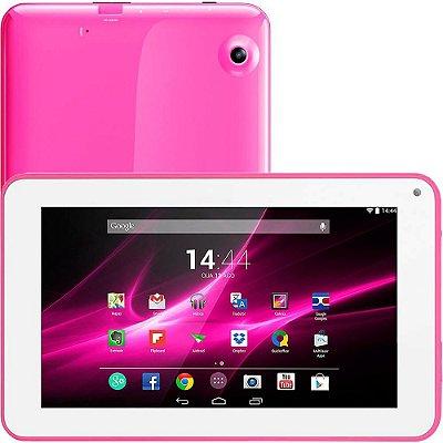"Tablet Rosa 9"""" Wifi 8gb Quad Core Nb174 - Multilaser"