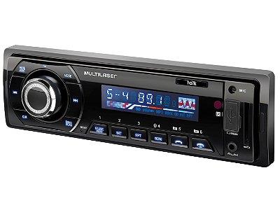 MP3 Player Som Automotivo Talk USB Bluetooth FM P3214 - Multilaser