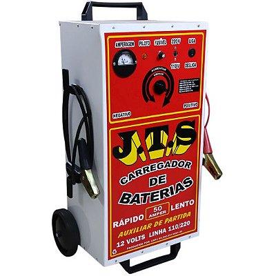 Carregador De Bateria 50a 6 a 12v Auxiliar De Partida 1 Relógio JTS003 - Jts