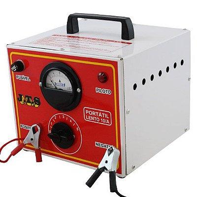 Carregador De Bateria 10a 12 a 24v Com Relógio e Seletor JTS005- Jts
