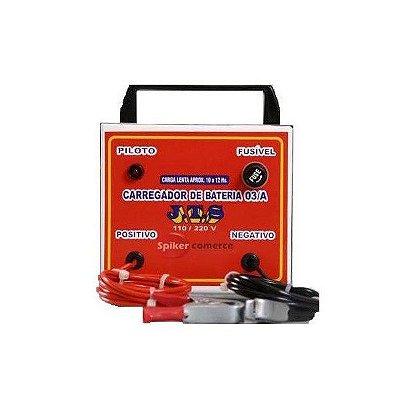Carregador De Bateria Lento 15a 12 a 72v com 1 Relógio JTS006- Jts