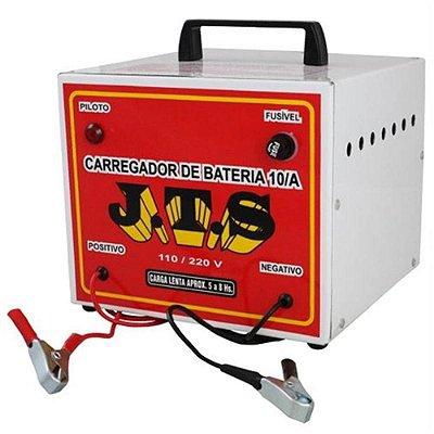 Carregador De Bateria Portátil 10a 12/24v 1 Relógio JTS025 - Jts