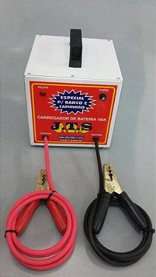 Carregador De Bateria Portátil Barco Caminhão 10a 12v JTS029 - Jts