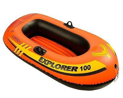 Bote Inflável Explorer 100 Infantil até 55kg Piscina Praia 7268-8 - Intex