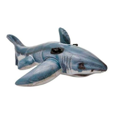 Bote Inflavel Tubarão Branco Infantil Piscina Praia 7672-7 - Intex